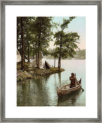 Hiawatha's Arrival Framed Print by Underwood Archives