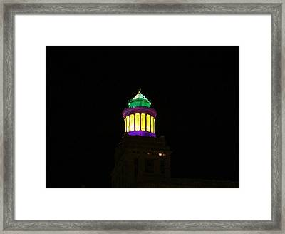 Hibernia Tower - Mardi Gras Framed Print