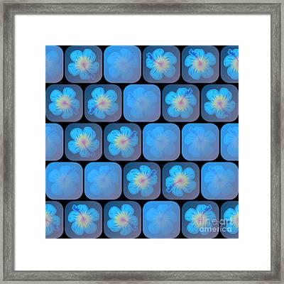 Hibiscus In Blue Gel Framed Print