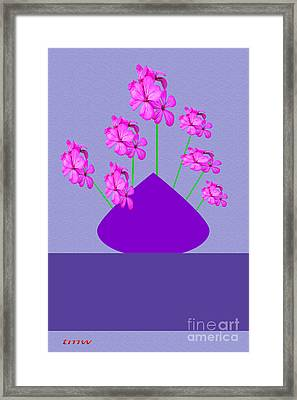 Hibiscus On Vase Framed Print by Tina M Wenger
