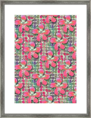 Hibiscus Pink Water Framed Print