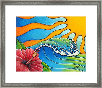 Hibiscus Wave Framed Print