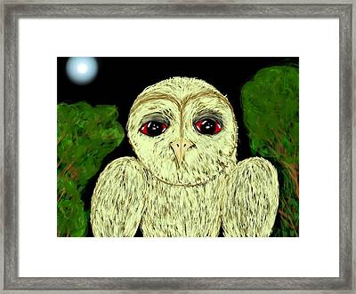 Hibou Framed Print by Mathieu Lalonde