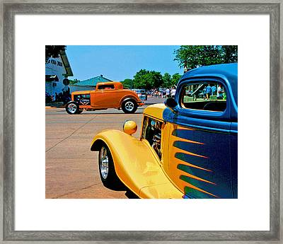 Framed Print featuring the photograph Hiboy Over Fender Custom by Christopher McKenzie