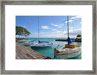 Framed Print featuring the photograph Hickam Harbor by Gina Savage