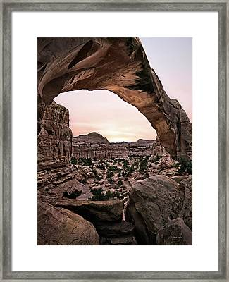 Hickman Bridge Framed Print by Leland D Howard