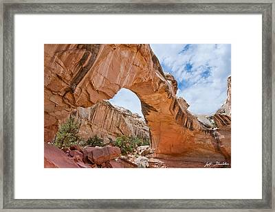 Framed Print featuring the photograph Hickman Bridge Natural Arch by Jeff Goulden