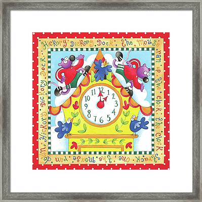 Hickory Dickory Dock Framed Print by P.s. Art Studios