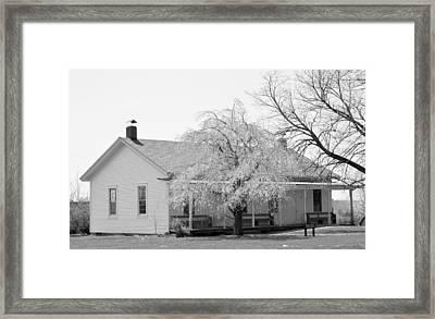 Hickory Grove Meeting House Framed Print by Corrie Blackshear