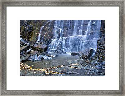 Hickory Nut Falls In Chimney Rock State Park Framed Print by Pierre Leclerc Photography