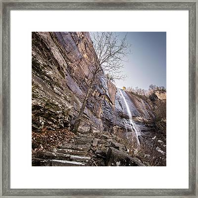 Hickory Nut Falls Framed Print