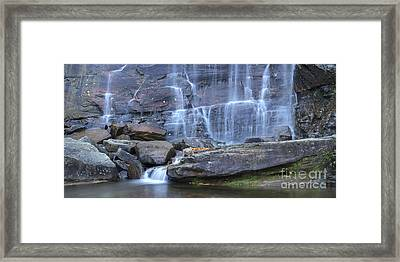Hickory Nut Falls Waterfall Framed Print