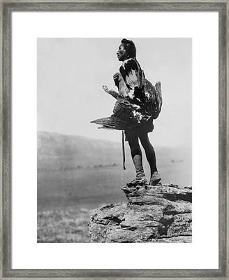 Hidatsa Indian Circa 1908 Framed Print by Aged Pixel