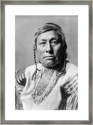 Hidatsa Indian Man Circa 1908 Framed Print