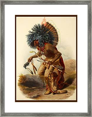 Hidatsa Warrior Framed Print