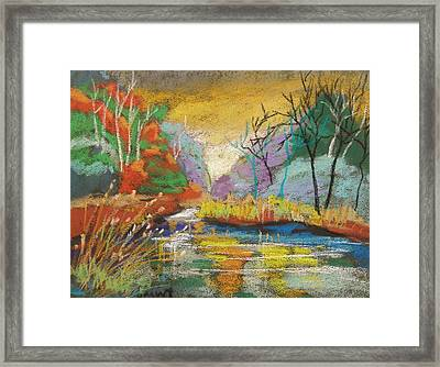 Hidden At Sunset Framed Print