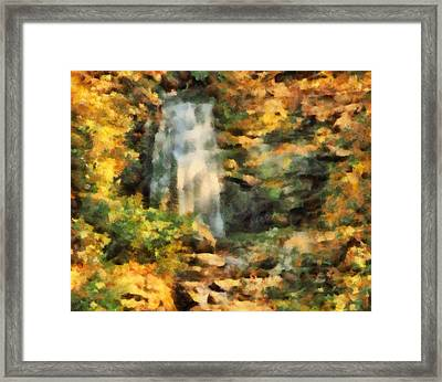 Hidden Autumn Waterfall Framed Print by Dan Sproul