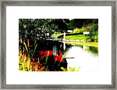 Hidden Barge Framed Print by David Wood