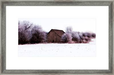 Hidden Barn Framed Print by Julie Hamilton