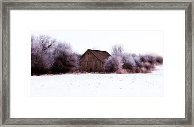 Hidden Barn Framed Print by Julie Hamilton