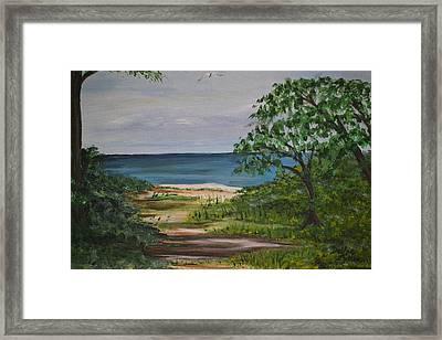 Framed Print featuring the painting Hidden Beach by Debbie Baker