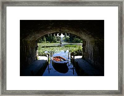 Hidden Boat Framed Print