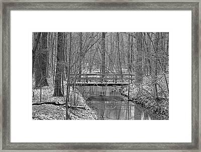 Hidden Bridge Framed Print