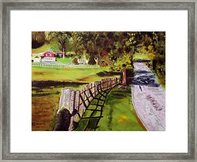 Hidden Brook Farm Framed Print