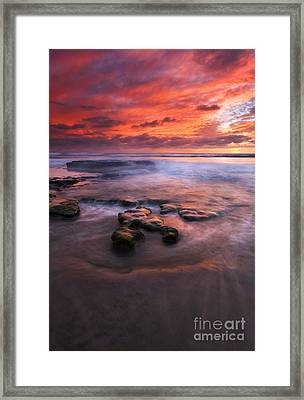 Hidden By The Tides Framed Print by Mike  Dawson