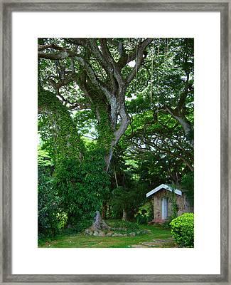 Hidden Cottage Framed Print by Kara  Stewart