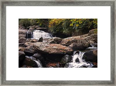 Hidden Fall On The Horse Pasture River 2 Framed Print