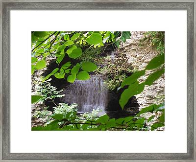 Hidden Falls Framed Print by Anthony Thomas