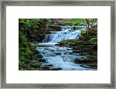 Hidden Falls Framed Print by Julie Andel