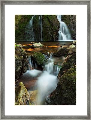 Hidden Falls Framed Print by Matt Dobson