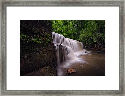 Framed Print featuring the photograph Hidden Falls Nerstrand Mn by RC Pics