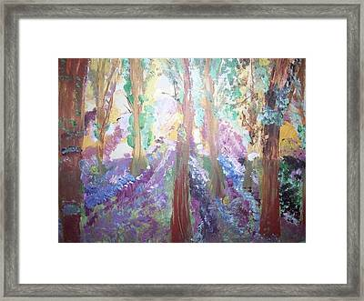 Framed Print featuring the painting Hidden Forest Fairies by Judith Desrosiers
