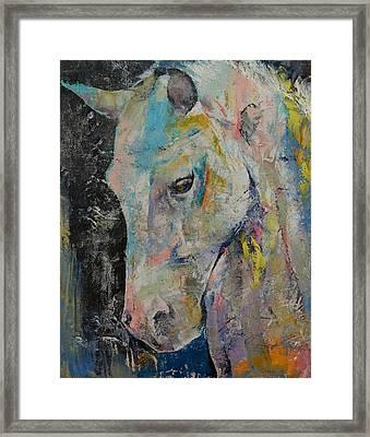 Hidden Heart Horse Framed Print by Michael Creese