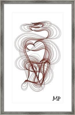 Hidden Hearts Framed Print