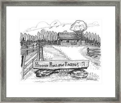 Hidden Hollow Farm 1 Framed Print by Richard Wambach