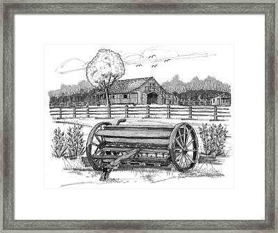 Hidden Hollow Farm 2 Framed Print by Richard Wambach
