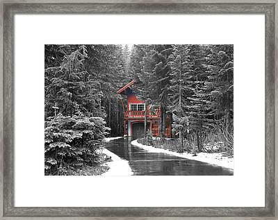 Hidden House Framed Print