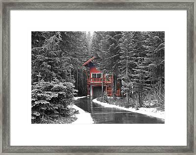 Hidden House Framed Print by Susan Crossman Buscho