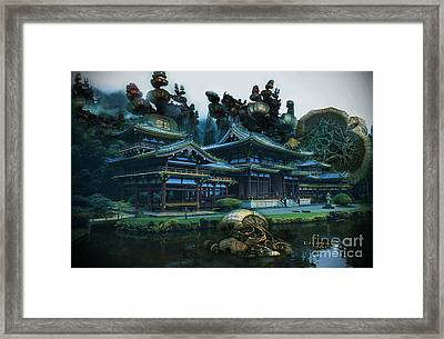 Hidden In The Mountains Framed Print by Melissa Messick