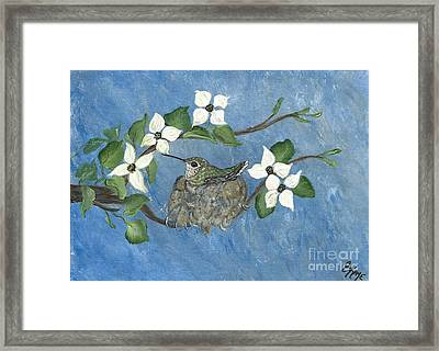 Framed Print featuring the painting Hidden Jewel by Ella Kaye Dickey