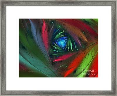 Hidden Jungle Plant-abstract Fractal Art Framed Print