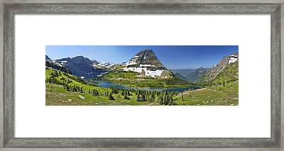 Hidden Lake In Glacier National Park Framed Print