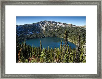 Hidden Lake In Idaho Framed Print