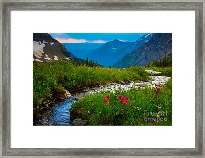 Hidden Lake Pass Framed Print