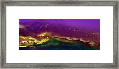 Hidden Moon Fluid Art By Kredart Framed Print