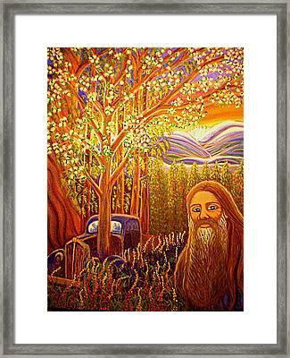 Hidden Mountain Man Framed Print